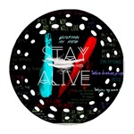 Twenty One Pilots Stay Alive Song Lyrics Quotes Round Filigree Ornament (2Side) Front