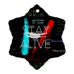 Twenty One Pilots Stay Alive Song Lyrics Quotes Snowflake Ornament (2-Side) Back