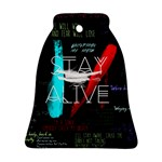 Twenty One Pilots Stay Alive Song Lyrics Quotes Bell Ornament (2 Sides) Back