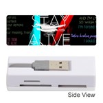 Twenty One Pilots Stay Alive Song Lyrics Quotes Memory Card Reader (Stick)  Front