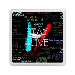 Twenty One Pilots Stay Alive Song Lyrics Quotes Memory Card Reader (Square)