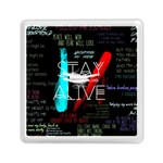 Twenty One Pilots Stay Alive Song Lyrics Quotes Memory Card Reader (Square)  Front