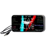 Twenty One Pilots Stay Alive Song Lyrics Quotes Portable Speaker (Black)  Front