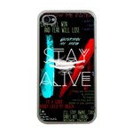 Twenty One Pilots Stay Alive Song Lyrics Quotes Apple iPhone 4 Case (Clear) Front