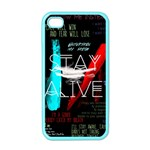 Twenty One Pilots Stay Alive Song Lyrics Quotes Apple iPhone 4 Case (Color) Front