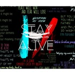 Twenty One Pilots Stay Alive Song Lyrics Quotes Deluxe Canvas 14  x 11  14  x 11  x 1.5  Stretched Canvas