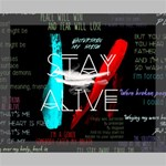 Twenty One Pilots Stay Alive Song Lyrics Quotes Deluxe Canvas 20  x 16   20  x 16  x 1.5  Stretched Canvas