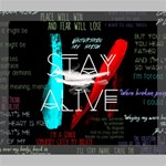 Twenty One Pilots Stay Alive Song Lyrics Quotes Deluxe Canvas 24  x 20   24  x 20  x 1.5  Stretched Canvas