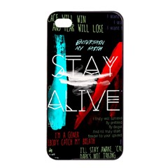 Twenty One Pilots Stay Alive Song Lyrics Quotes Apple iPhone 4/4s Seamless Case (Black)