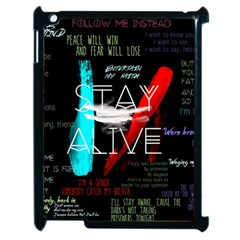 Twenty One Pilots Stay Alive Song Lyrics Quotes Apple Ipad 2 Case (black)