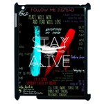 Twenty One Pilots Stay Alive Song Lyrics Quotes Apple iPad 2 Case (Black) Front
