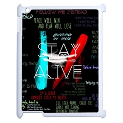 Twenty One Pilots Stay Alive Song Lyrics Quotes Apple iPad 2 Case (White)