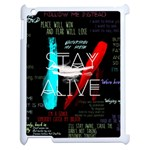 Twenty One Pilots Stay Alive Song Lyrics Quotes Apple iPad 2 Case (White) Front