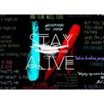 Twenty One Pilots Stay Alive Song Lyrics Quotes BOY 3D Greeting Card (7x5) Back