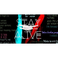 Twenty One Pilots Stay Alive Song Lyrics Quotes YOU ARE INVITED 3D Greeting Card (8x4)