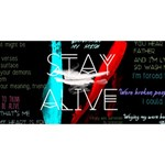 Twenty One Pilots Stay Alive Song Lyrics Quotes Twin Heart Bottom 3D Greeting Card (8x4) Back