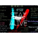 Twenty One Pilots Stay Alive Song Lyrics Quotes Peace Sign 3D Greeting Card (7x5) Back