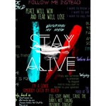 Twenty One Pilots Stay Alive Song Lyrics Quotes Ribbon 3D Greeting Card (7x5) Inside