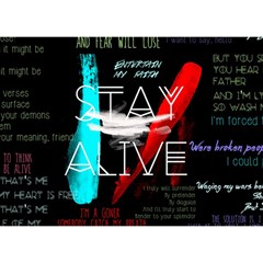 Twenty One Pilots Stay Alive Song Lyrics Quotes Birthday Cake 3D Greeting Card (7x5)