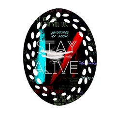 Twenty One Pilots Stay Alive Song Lyrics Quotes Ornament (oval Filigree)