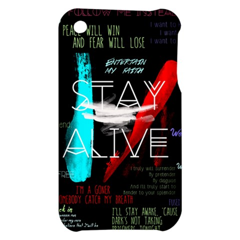 Twenty One Pilots Stay Alive Song Lyrics Quotes Apple iPhone 3G/3GS Hardshell Case
