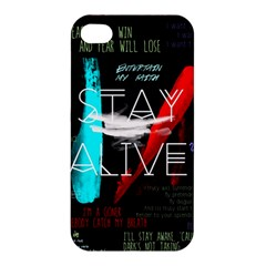 Twenty One Pilots Stay Alive Song Lyrics Quotes Apple iPhone 4/4S Hardshell Case