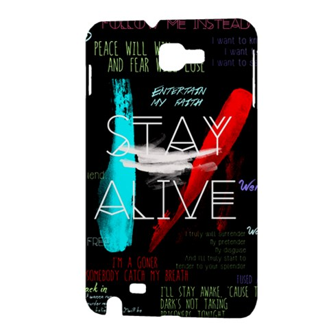 Twenty One Pilots Stay Alive Song Lyrics Quotes Samsung Galaxy Note 1 Hardshell Case