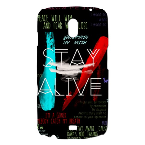 Twenty One Pilots Stay Alive Song Lyrics Quotes Samsung Galaxy Nexus i9250 Hardshell Case