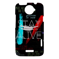 Twenty One Pilots Stay Alive Song Lyrics Quotes HTC One X Hardshell Case