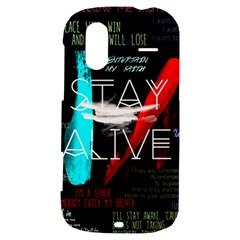 Twenty One Pilots Stay Alive Song Lyrics Quotes HTC Amaze 4G Hardshell Case