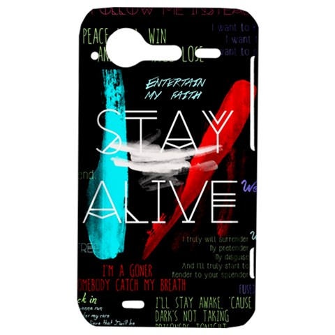 Twenty One Pilots Stay Alive Song Lyrics Quotes HTC Incredible S Hardshell Case
