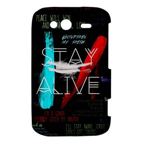 Twenty One Pilots Stay Alive Song Lyrics Quotes HTC Wildfire S A510e Hardshell Case