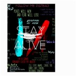 Twenty One Pilots Stay Alive Song Lyrics Quotes Large Garden Flag (Two Sides) Back