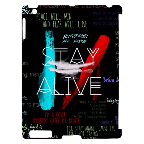 Twenty One Pilots Stay Alive Song Lyrics Quotes Apple iPad 2 Hardshell Case (Compatible with Smart Cover)