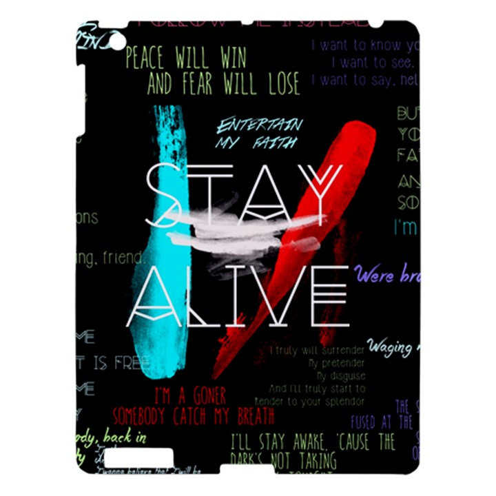 Twenty One Pilots Stay Alive Song Lyrics Quotes Apple iPad 3/4 Hardshell Case