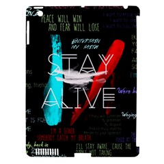 Twenty One Pilots Stay Alive Song Lyrics Quotes Apple iPad 3/4 Hardshell Case (Compatible with Smart Cover)