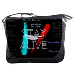 Twenty One Pilots Stay Alive Song Lyrics Quotes Messenger Bags Front