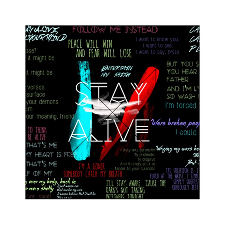 Twenty One Pilots Stay Alive Song Lyrics Quotes Acrylic Tangram Puzzle (6  x 6 )
