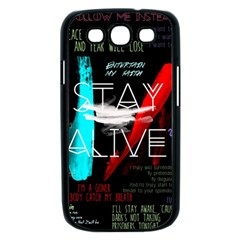 Twenty One Pilots Stay Alive Song Lyrics Quotes Samsung Galaxy S III Case (Black)