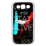 Twenty One Pilots Stay Alive Song Lyrics Quotes Samsung Galaxy S III Case (White) Front