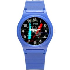 Twenty One Pilots Stay Alive Song Lyrics Quotes Round Plastic Sport Watch (S)