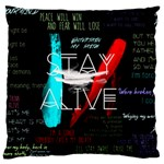 Twenty One Pilots Stay Alive Song Lyrics Quotes Large Cushion Case (Two Sides) Back