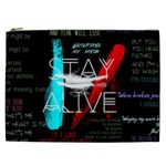 Twenty One Pilots Stay Alive Song Lyrics Quotes Cosmetic Bag (XXL)  Front