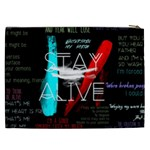 Twenty One Pilots Stay Alive Song Lyrics Quotes Cosmetic Bag (XXL)  Back