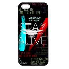 Twenty One Pilots Stay Alive Song Lyrics Quotes Apple Iphone 5 Seamless Case (black)