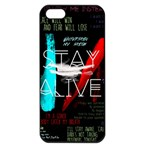 Twenty One Pilots Stay Alive Song Lyrics Quotes Apple iPhone 5 Seamless Case (Black) Front