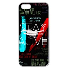 Twenty One Pilots Stay Alive Song Lyrics Quotes Apple Seamless iPhone 5 Case (Clear)