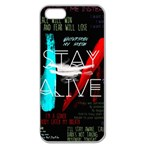 Twenty One Pilots Stay Alive Song Lyrics Quotes Apple Seamless iPhone 5 Case (Clear) Front