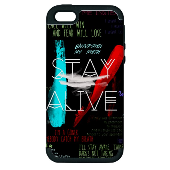 Twenty One Pilots Stay Alive Song Lyrics Quotes Apple iPhone 5 Hardshell Case (PC+Silicone)