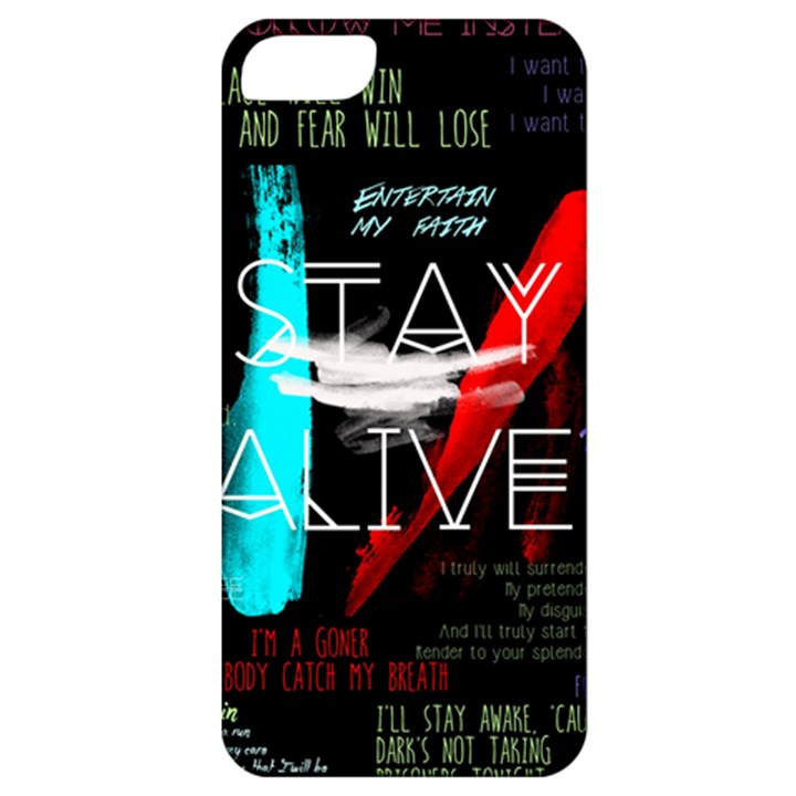 Twenty One Pilots Stay Alive Song Lyrics Quotes Apple iPhone 5 Classic Hardshell Case